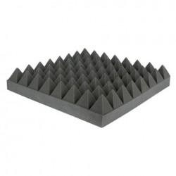 Pannello Fonoassorbente piramidale nero 50 x 50 cm