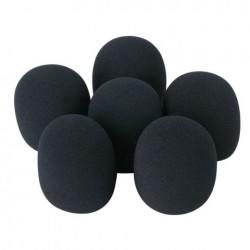 Set filtro microfono, 6 pezzi Nero DWS-66
